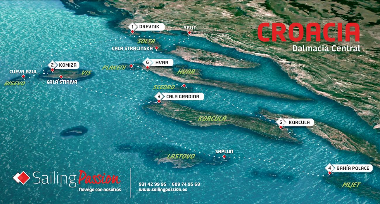 Ruta por Croacia en velero plaza a plaza